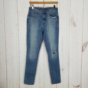 Levi's | Mom High Waist Skinny Distressed Jeans